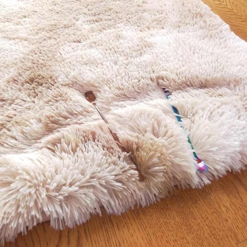 거실 용 모들리 플러시 카펫 부드러운 푹신한 깔개 홈 장식 얽히고 설킨 카펫 침실 소파 커피 테이블 플로어 매트 Cloakroom Rugs