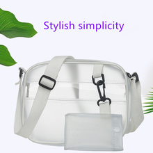 Transparent Matte Port Wind Beach Shoulder Bag Korean Simple Literary Crossbody 2019 Summer Woman