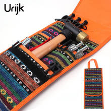 Urijk Hanging Tools Bags Camping Tent Accessories Hammer Wind Rope Tent Pegs Nail Storage Bag Portable Outdoor Tools Bags