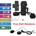 Free Shipping!Motorcycle Helmet Bluetooth 1000M Intercom Headset NFC+Soft Earpiece +Extra Clip