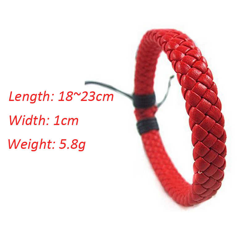 Pulseras de cuero trenzadas de estilo Simple brazaletes de pulsera de tejido hecho a mano de varios colores joyería de cuerda para mujeres niñas niños joyería