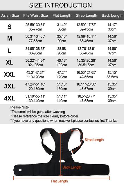 Posture Corrector Brace Shoulder Back Support Belt for Men Women- Magnetic Therapy