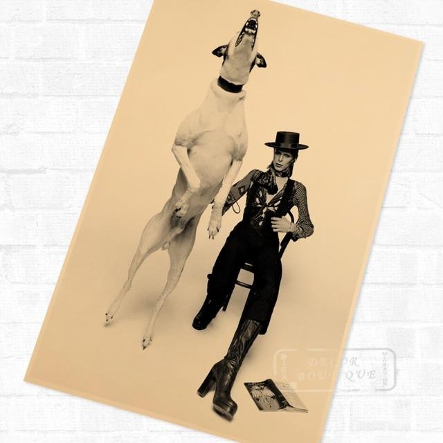 Gloss Black Diamond Dogs David Bowie Music Poster Vintage Retro ...