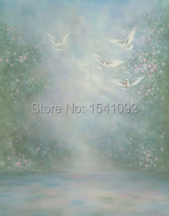 Thin fabric cloth Printed photography background oil painting backdrop Customize vinyl photography backdrop  CM2228 vinyl backdrop photography lovely painting of wildflowers newborn photography background cm s 110