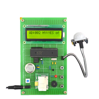 GSM SMS control Fire/anti theft alarm system Electronic diy kit with LCD1602 ADC0832