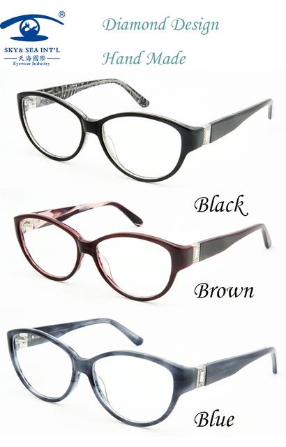 Acessórios de óculos Feitos À Mão Óculos de grau de Acetato de Armações de Óculos de Olho para As Mulheres de Desconto