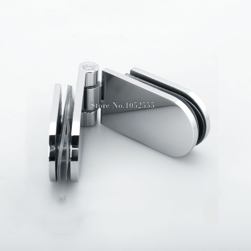 High Quality Stainless Steel Shower Glass Door Hinges 180 Degree Glass to Glass Bathroom Cabin Door Hinge Glass Fixed Clamps 2pcs wall to glass door hinge stainless steel cabinet glass hinges clamp fit 8 10mm glass door pivot hinge clamps for shower