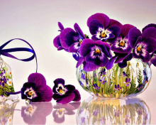 Diamond Painting Pansy picture Full Cross stitch kits Icons  Embroidery purple flowers Mosaic pattern Needlework