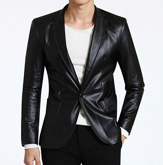 Popular Men Leather Blazer-Buy Cheap Men Leather Blazer lots from