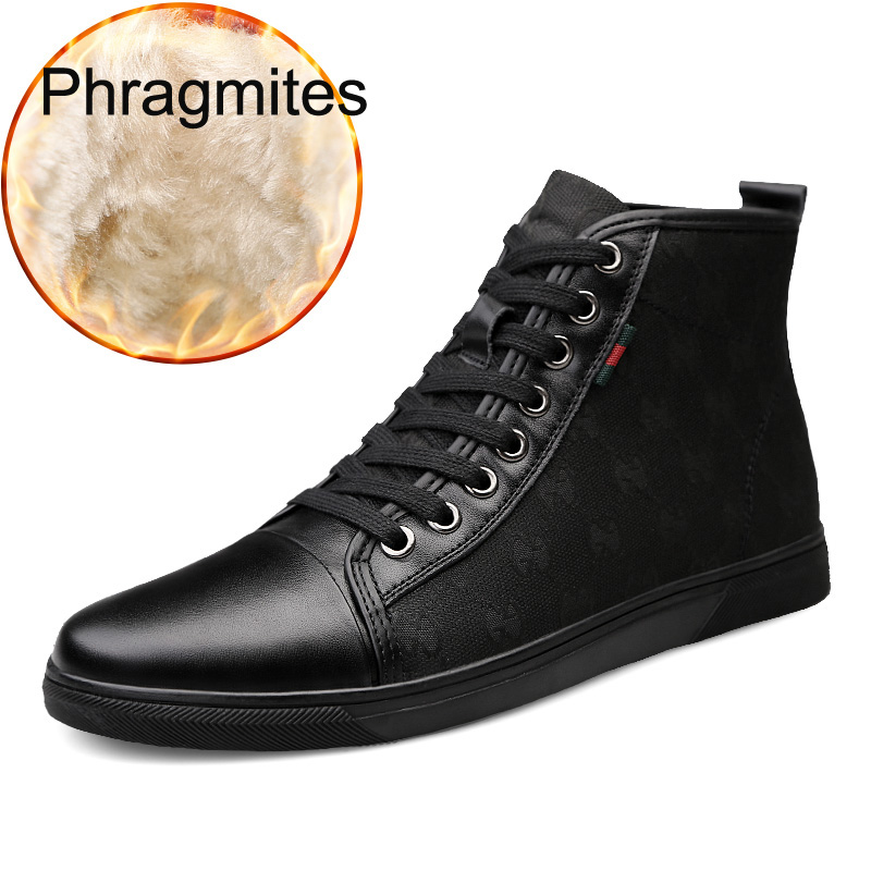 Phragmites Fashion Embroider Genuine Leather <font><b>Shoes</b></font> Hot Sale Russia <font><b>Men</b></font> Boots Four Season High Quality <font><b>Winter</b></font> Boots <font><b>Men</b></font> Flats image