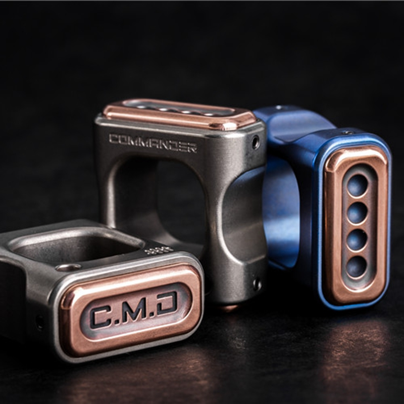купить EDC titanium alloy copper finger rings Survival Tactical A Pendant Paracord Outdoor DIY Decorations Finger Ring EDC tools онлайн