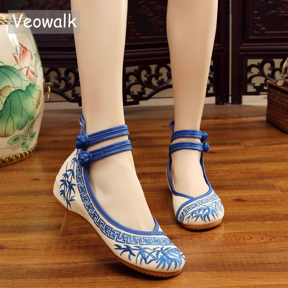 Veowalk Handmade Fashion Women Ballerinas Dancing Shoes Chinese Flower Embroidery Soft Casual Shoes Cloth Walking Flats veowalk handmade fashion women ballerinas dancing shoes chinese flower embroidery soft casual shoes cloth walking flats