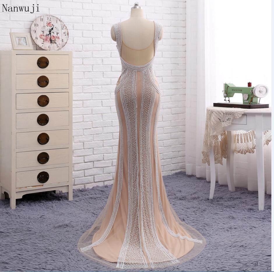 Настоящее фото цвета шампанского Русалка Вечерние платья с грушами развертки поезд блестящие вечерние платья Robe De Soiree в - Цвет: Хаки