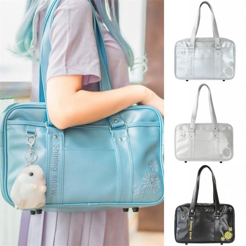 Cosplay japonais Lolita filles flocon de neige broderie haute école étudiants sac à bandoulière femmes PU JK uniforme sac à main 4 couleurs