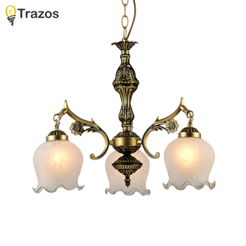 New arrival Hot sale Chandelier genuine alloy vintage Chandelier lights handmade golden high quality novelty pendant lamp цена 2017