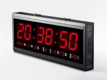 HT4819SM-4, Envío Libre, De Aluminio de Gran Reloj de Pared Digital LLEVADO, gran Reloj de Diseño Moderno, reloj Digital! Led calendario electrónico