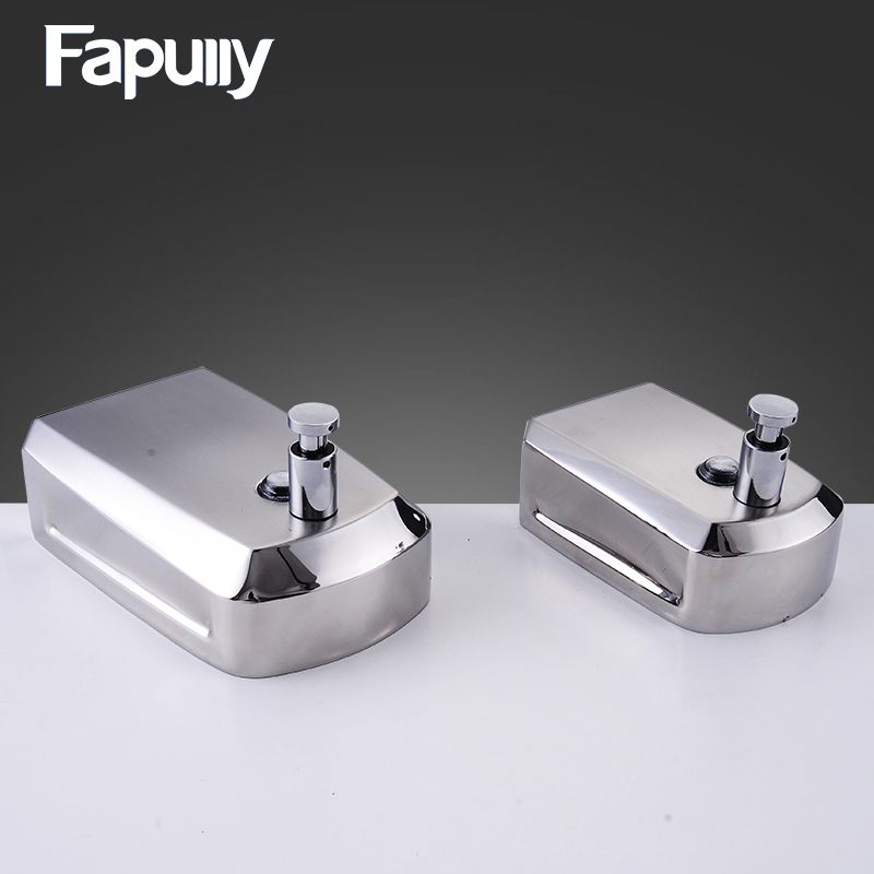 Fapully Stainless Steel Bathroom Soap Dispenser Wall Mounted Hand Liquid Soap Dispenser P248 01mm SS