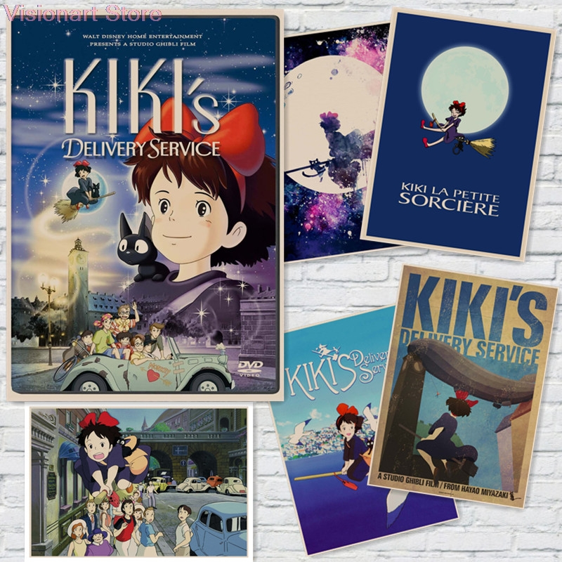 Anime Posters Kiki's Delivery Service Posters Home decoration Wall Stickers