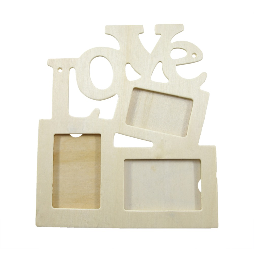 1Pcs Fashion Durable Home Decor Hollow Love Shaped Wooden Photo Frame Case DIY Hot New Hollow Decor Pop Chic 2019 New
