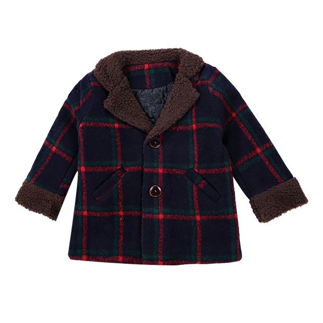 Baby boy clothes children wool jackets 2019 new autumn kids outerwear coats winter windbreaker tops male child clothing