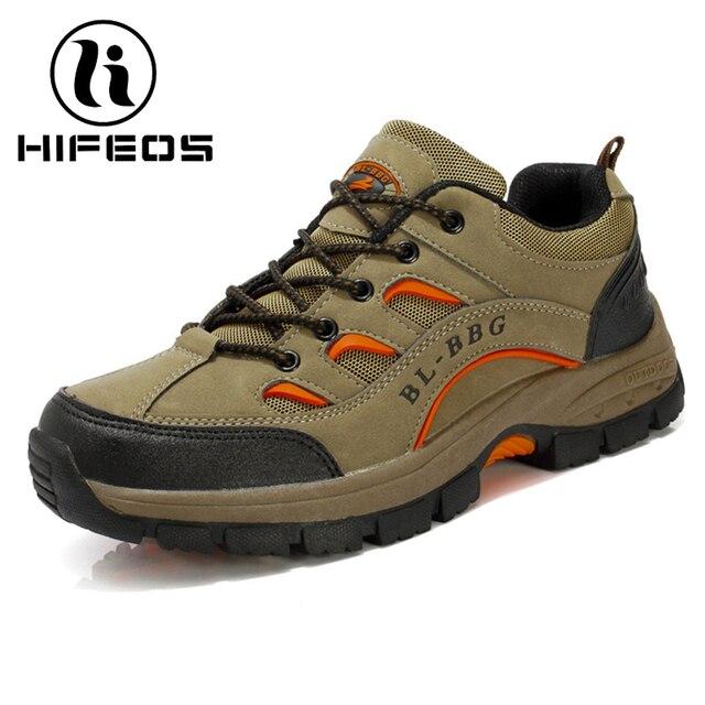 Mens Comfort Non-Slip Wear-Resistant Slip On Hiking Shoes