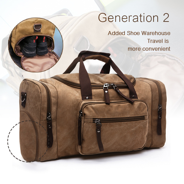 cb8a083cae45 Canvas travel bags online men Travel Bags Luggage Duffel Bag Travel Tote  Large Bag