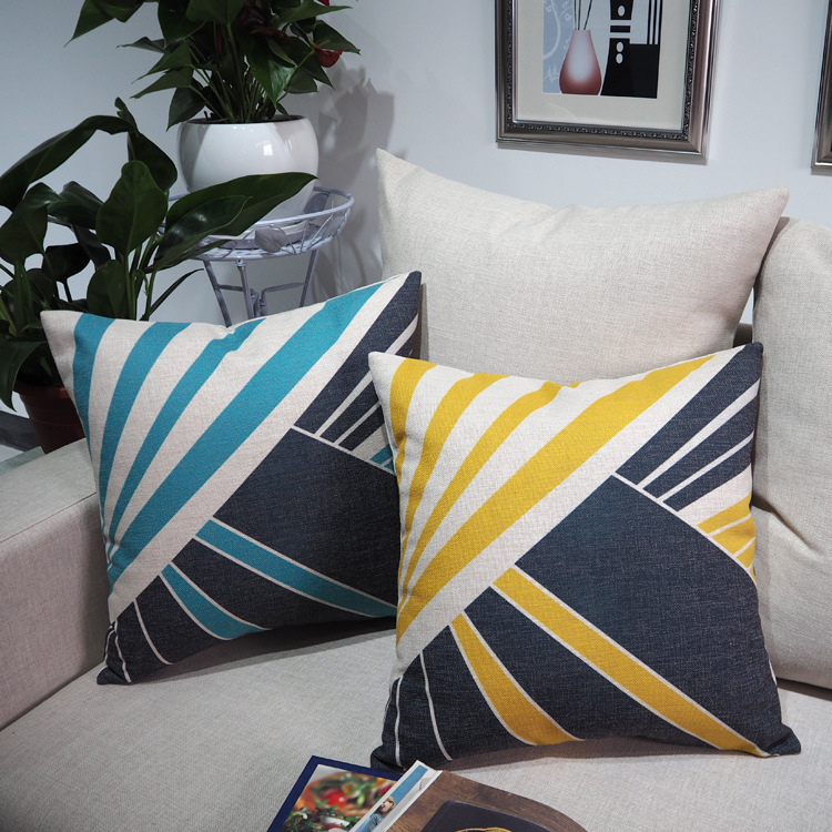 American Classic Stripe Pillowcase Creative Luxury Sofa Square Cusions Decorative Pillow Home Decor Throw Pillow 45*45