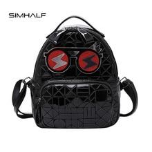 Simhalf женские Модные рюкзак высокое качество PU кожаные рюкзаки для девочек-подростков Mochilas яркий знак для отдыха дорожные сумки