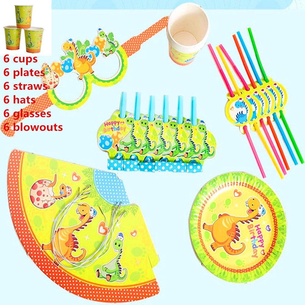36 Stks Gelukkige Verjaardag Kids Dinosaurus Baby Meisje Douche Bruiloft Decoratie Set Banner Servetten Rietjes Cup Platen Leveranciers Van Hoge Kwaliteit