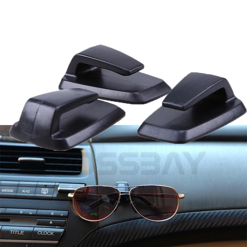 negro Gancho multiusos con pegatina para coche 3 piezas small negro
