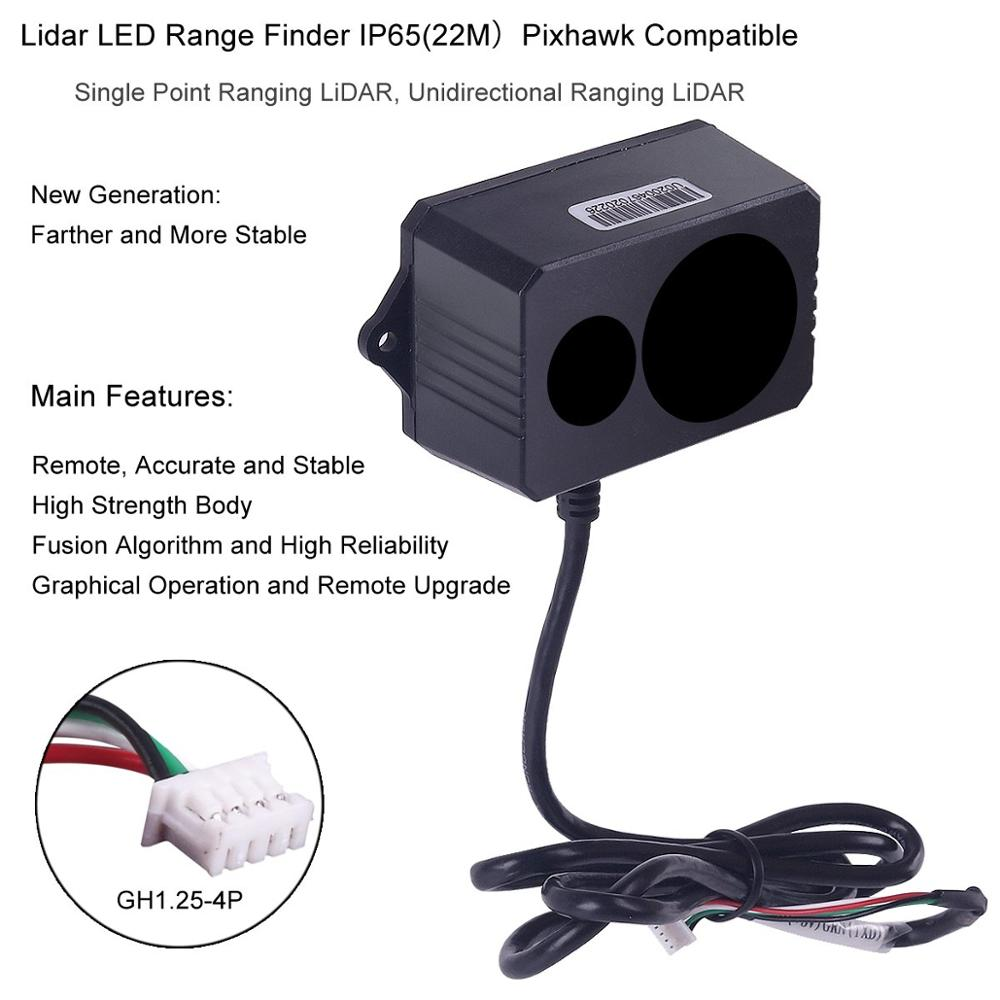 TF02 LIDAR LED Rangefinder Sensor Single Point Micro Range Laser Finder Module IP65 22M for Arduino