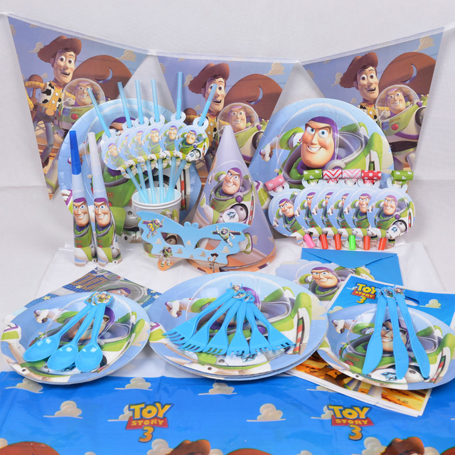 Toy Story Buzz Lightyear blowout plate flags kids happy birthday party decoration disposable paper tableware set  sc 1 st  AliExpress.com & Toy Story Buzz Lightyear blowout plate flags kids happy birthday ...