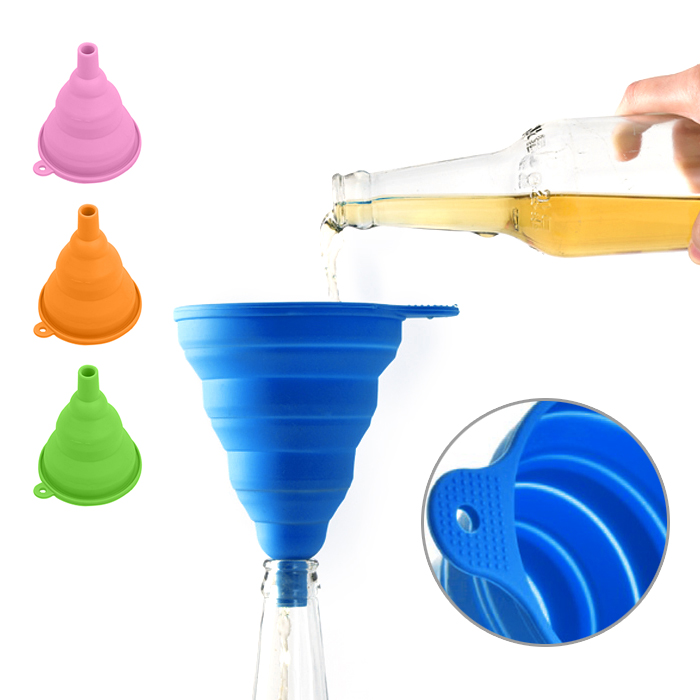 Outdoor Kitchen Accessories Sale: Mini Silicone Gel Foldable Collapsible Funnel Hopper