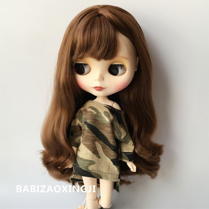 1/6 Fashion Doll Casual Clothes 1/6 Doll Clothing Blyth Doll Accessories Camouflage T-shirt For Barbie