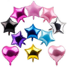 10pcs 5 10 18 inch Star Heart Helium Balloon Wedding Star Foil Balloons Inflatable Gift Birthday Baloon Party Decoration Ball(China)
