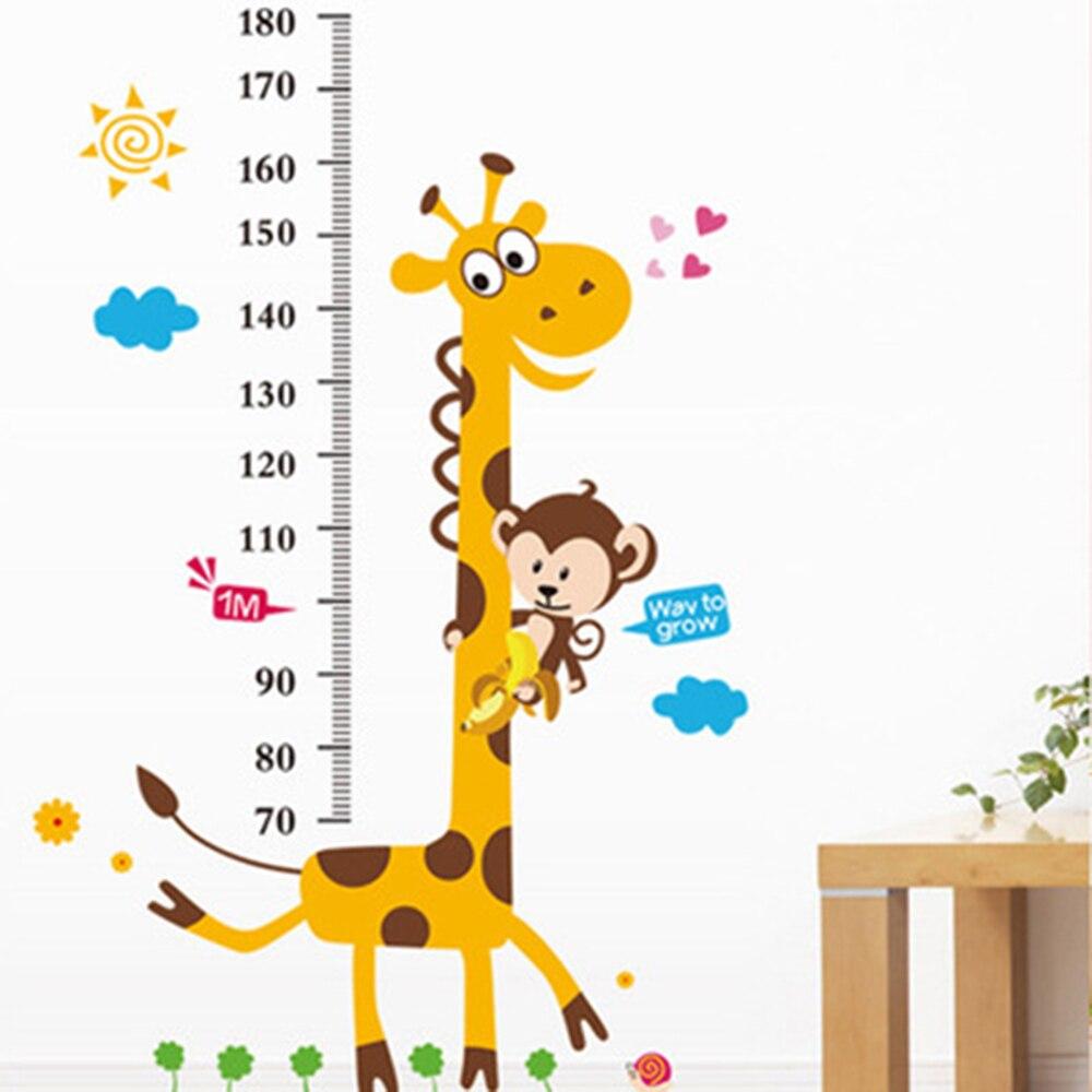 Мультфильм Высота Мера стены Стикеры для детей номеров роста винил Наклейки на стену съемный Домашний Декор стены Бумага