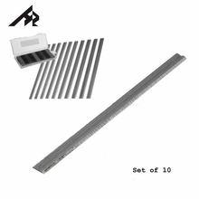 """HZ 10 יחידות 3 1/4 """"82 מ""""מ x 5.5 מ""""מ x 1.1 מ""""מ HSS הפיך פלנר להבי סכין לקיטה בוש DeWalt שחור & DECKER Ryobi Ataka"""