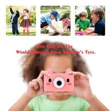 Appareil photo numérique pour enfants dessin animé mignon Mini SLR Point caméra pour enfants anniversaires cadeau CMOS 2 pouces Full HD enfants garçons caméscopes