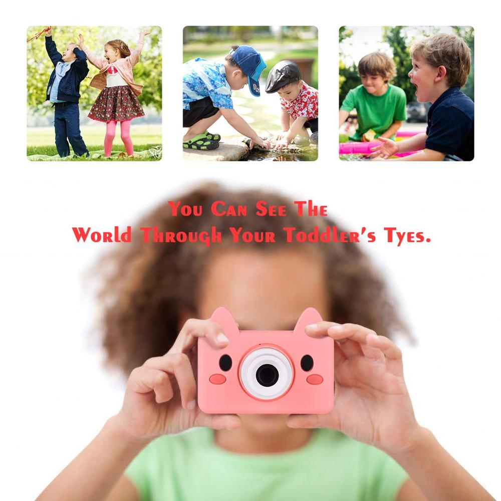 Digital Kids Camera Cute Cartoon Mini SLR Point Shoot Camera For Children Birthdays Gift CMOS 2inch Full HD Kids Boys Camcorders-in Point & Shoot Cameras from Consumer Electronics