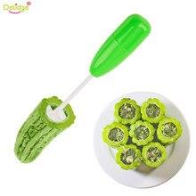 Delidge 4 шт./компл. разных Размеры овощи спиральная фреза спирализатор для мяса инструмент для наполнения Пластик помидор Баклажан резак Кухня инструмент