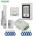 RAYKUBE набор управления доступом для стеклянной двери электрический замок болт + металлическая RFID Клавиатура считывателя для стеклянных двер...