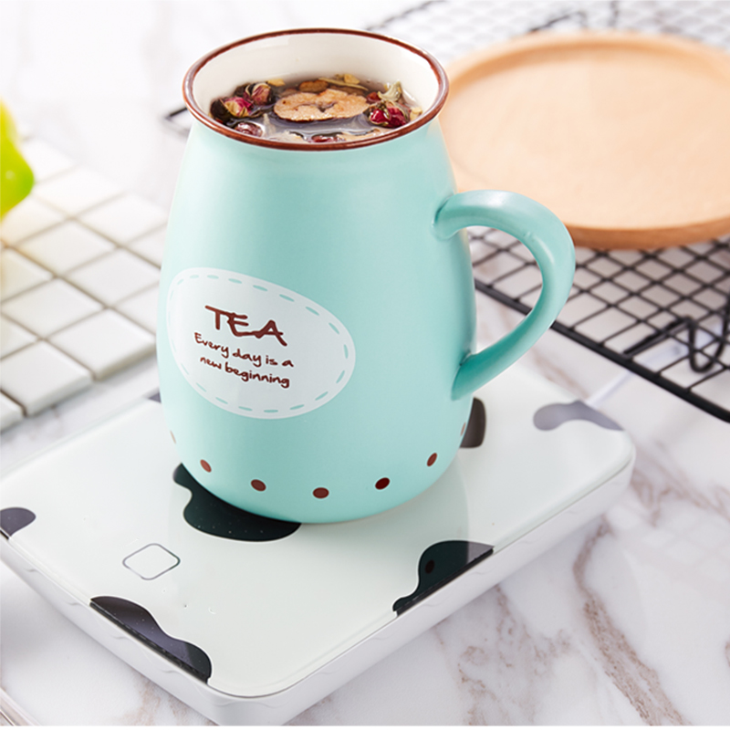 55 Degrees Cup Warmer Thermostatic Coaster Heating Coaster 18W Electric Heating Heated Mugs Drink Warmer Baby Bottle Warmer Heat