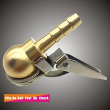 Closed End,8x28mm Hose Barb,Clip On Ball Foot Air Chuck,Brass Stem,Tire/Tyre Inflator Gauge Fitting,Tire Repair Tools