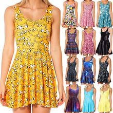 New 2014 Black Milk Adventure Time Jake All Over Scoop Skater Dress Women 2014 Fashion Women's Black Milk