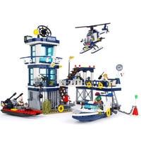 ENLIGHTEN City Military War Rescue Plan Policemen Car Helicopter Building Blocks Sets Bricks Model Kids Toys Compatible Legoings