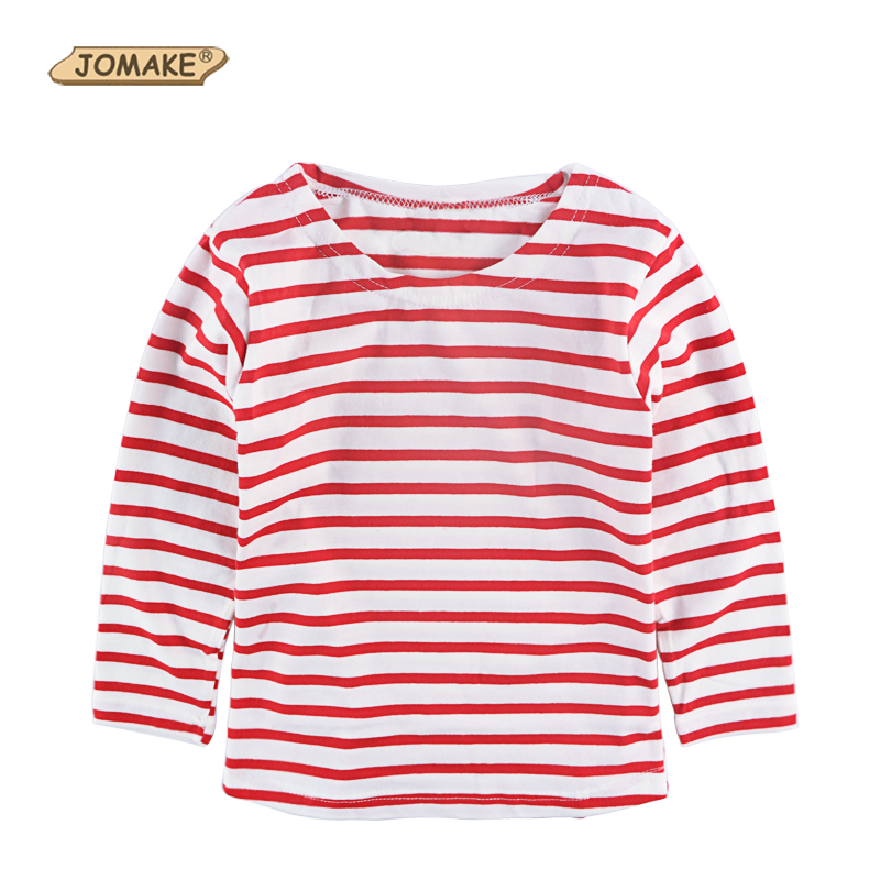 High collar T-shirt with long sleeves. Back snap button closure and embroidered motif at chest. Striped print.