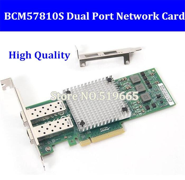 9812AF 2SFP+ PCI Expree pcie X8 10Gb fiber optical ethernet adapter dual port Network Card server lan Card BCM57810S