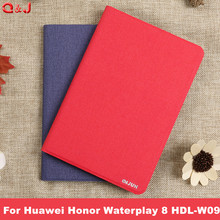 Tablet Cover For Huawei Honor Waterplay 8 HDL-W09 Leather Stand Case Cover PU Leather For Huawei MediaPad Honor Waterplay 8.0 new printed pu leather magnetic smart stand case for huawei mediapad m5 8 4 sht al09 sht w09 tablet protective cover film stylus