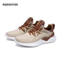 RGKWXYER New Breathable Men Casual Shoes Male Mesh Flats Outdoor Sneakers Sport Running Light Weight Walking Footwear 2019