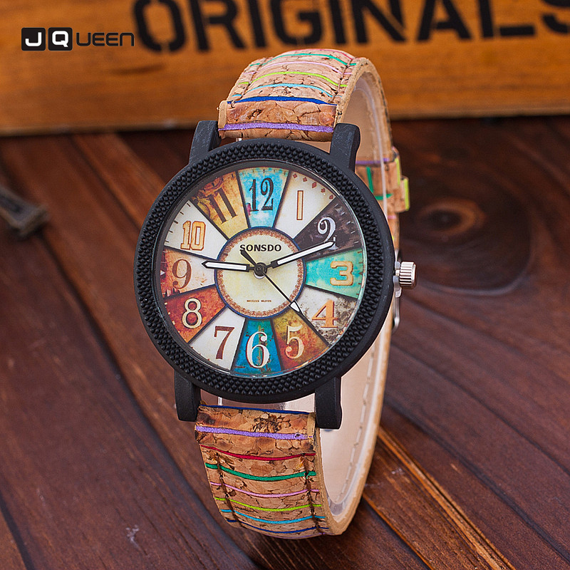 Retro Number Women Watch Wood Grain Leather Girls Quartz Bracelet Wristwatch Relogios Feminino xiniu retro wood grain leather quartz watch women men dress wristwatches unisex clock retro relogios femininos chriamas gift 01